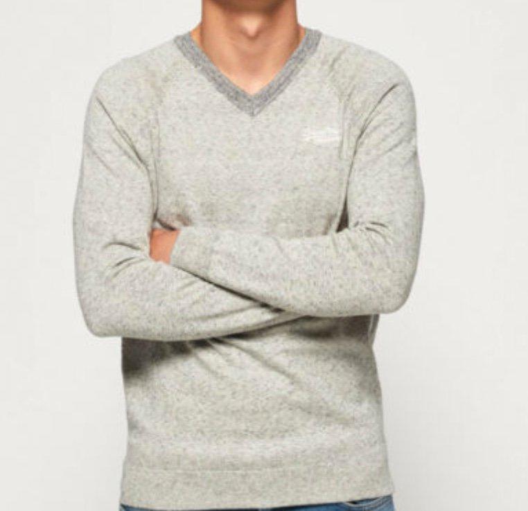 Superdry Orange Label Herren Baumwollpullover mit V-Ausschnitt für je 23,95€ (statt 32€)