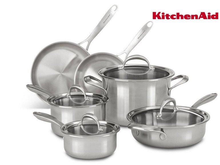 KitchenAid KC2CS10ST 10-teiliges Topfset für 308,90€ inkl. Versand