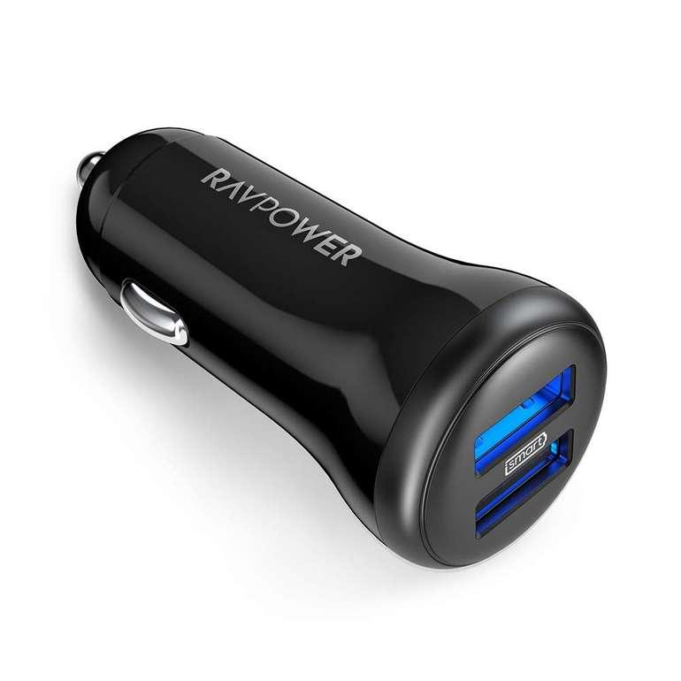 RAVPower 2-Port 24W Auto Ladegerät mit iSmart Technologie für 4,99€ inkl. Prime Versand (statt 7€)