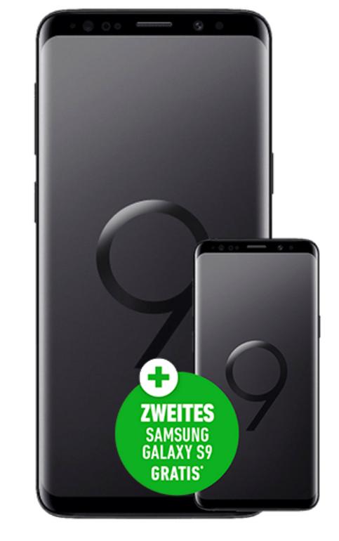 2x Galaxy S9 (149€) + Smart L+ (7GB LTE, Allnet, SMS-Flat) für 36,99€ mtl.