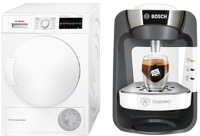 Bosch WTW87463 Wärmepumpentrockner + TAS 3204 Kapselmaschine für 618,90€