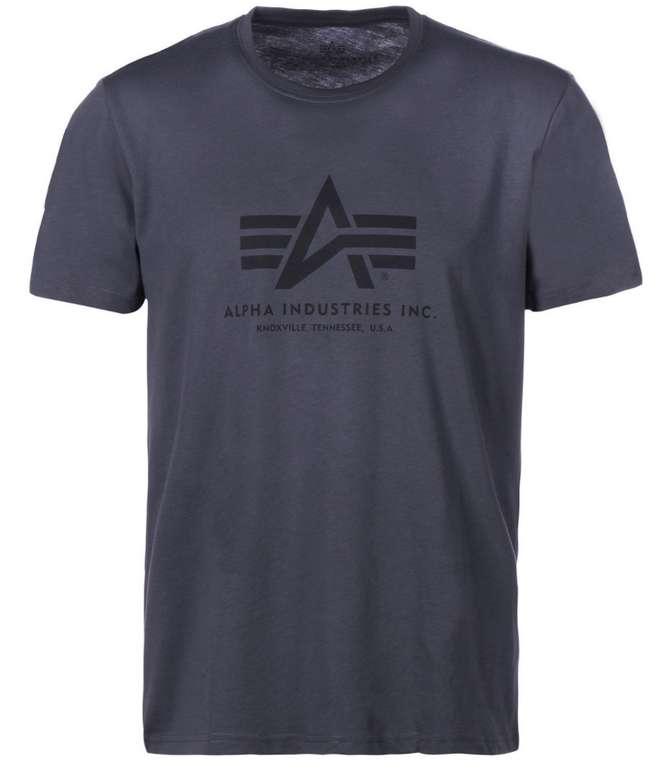 Alpha Industries Herren T-Shirt dunkelgrau/schwarz für 11,94€ inkl. Versand (statt 17€)