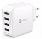 iClever 4-Port Universal USB-Ladegerät mit 40 Watt & SmartID-Technologie für 9,59€ inkl. Prime