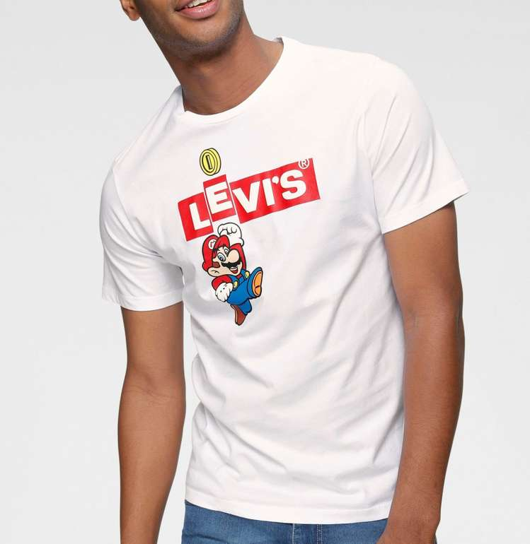 Otto: 20% Rabatt auf Nintendo x Levi's Mario Bekleidung, z.B. Shirt für 15,99€