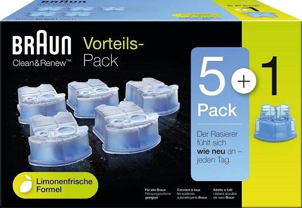 6er-Pack Braun CCR Reinigungskartuschen ab 19,80€ inkl. Versand (statt 23€)