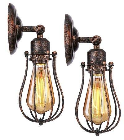 2er Pack KingSo rustikale Vintage Wandlampen für 20,81€ inkl. Versand