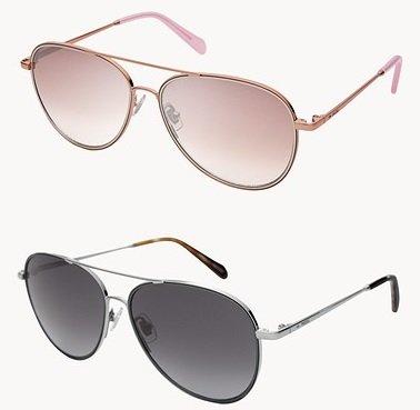Fossil Damen Sonnenbrille Bennet Aviator in 2 Farben für je 52,96€ inkl. Versand (statt 72€) - Newsletter