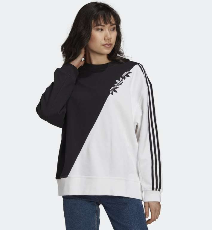 Adidas Adicolor Sliced Trefoil Damen Sweatshirt in 2 Farben für je 28,05€ (statt 38€)