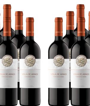 12er Paket Villa de Adnos - Bobal-Tempranillo - Utiel-Requena DOP Wein für 45€