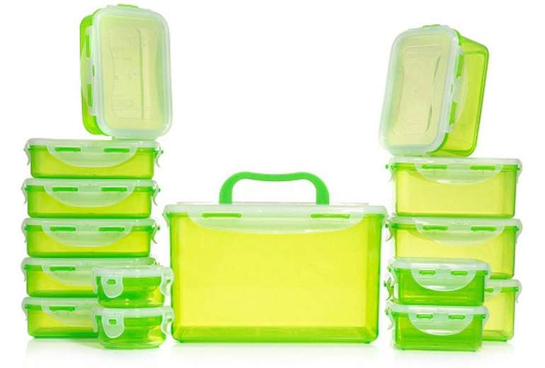 15er Set Lock&Lock Frischhaltedosen (luft- & aromadicht, 100ml-4,5l) ab 19€ inkl. Versand