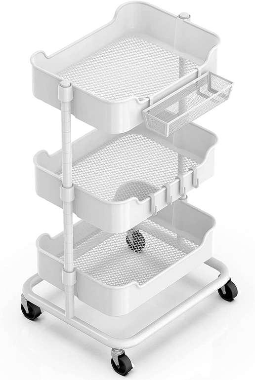 Alvorog Metall Rollwagen mit 3 Ebenen für 24,49€ inkl. Versand (statt 36€)