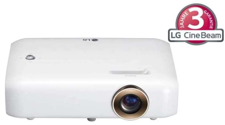 "LG CineBeam PH510PG LED-Beamer (DLP, 1280x720, bis 100"", 3D-ready, 550lm, HDMI, VGA, etc.) für 359€"