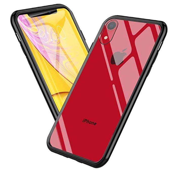 Mediom iPhone XR Hülle mit Glas Rückseite und TPU Rand für 5,49€ inkl. Prime