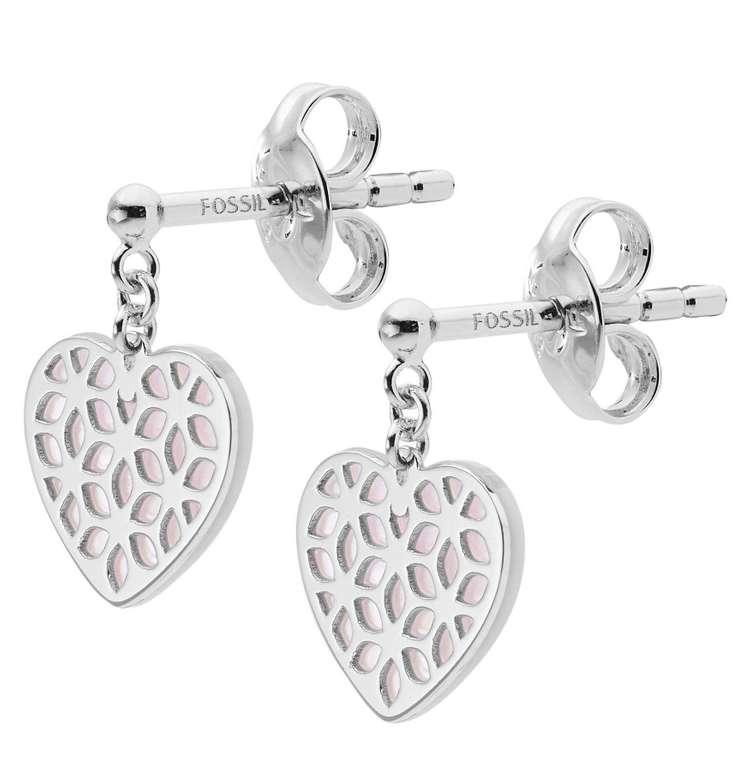 Fossil Damen Ohrringe 'Cutout Heart' (Sterling Silver) für 25€ inkl. Versand (statt 31€)