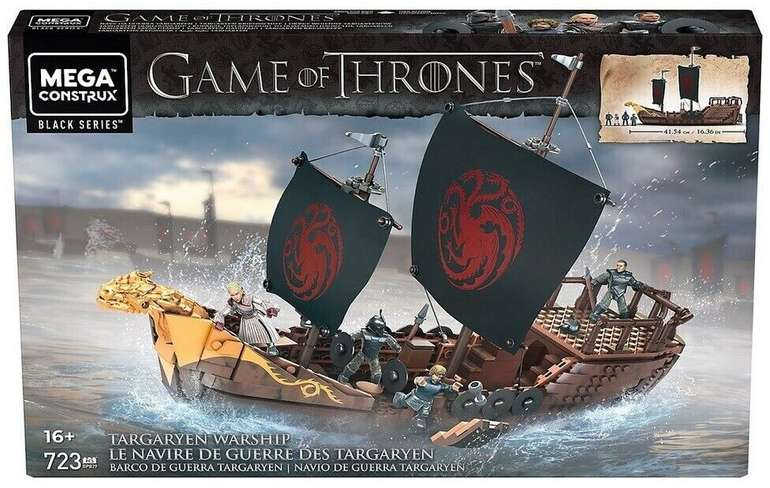 Mega Construx GPB29 - Game of Thrones Targaryen Schiff für 53,99€ inkl. Versand (statt 66€)