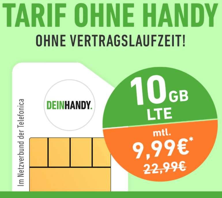 DeinHandy Flex Aktion: 10GB LTE + Allnet Flat im Telefonica Netz (o2) für 9,99€ mtl. - keine Vertragslaufzeit!
