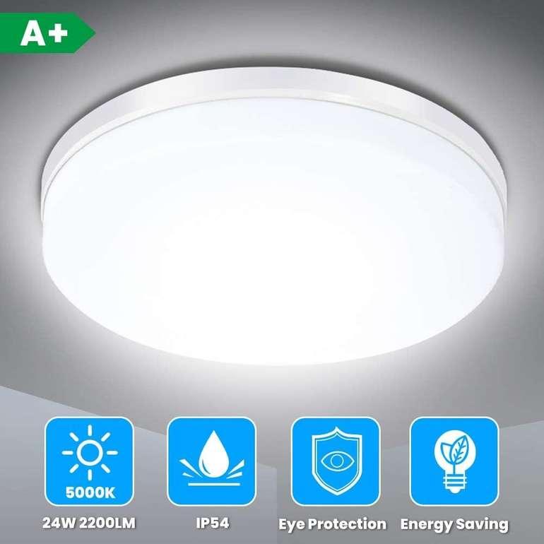 Solmore 24W LED Deckenleuchte (IP54, 5000K, 23cm) für 11,99€ inkl. Prime Versand (statt 20€)