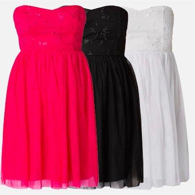 Only Kleid aus Mesh mit floralen Stickereien in 3 Farben je 7,99€ inkl. Versand