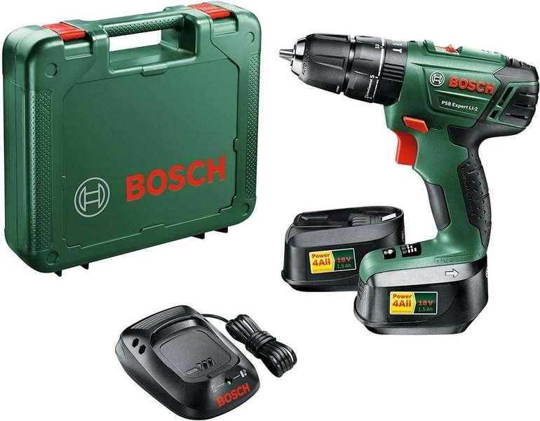 Bosch PSB Expert Li 2 Akku-Bohrschrauber mit 2 Akkus 1,5 Ah 18 Volt für 99€ (statt 111€)