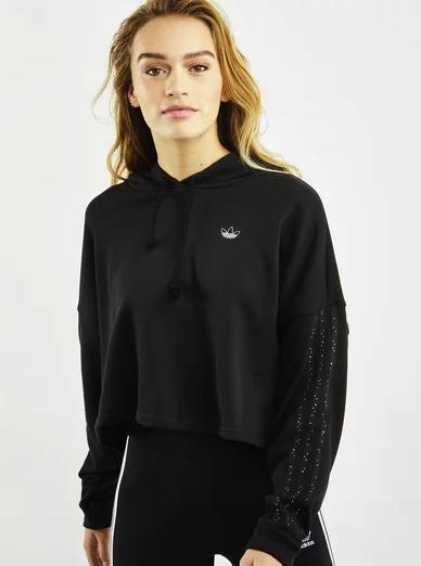 adidas Diamond Crop Over The Head Damen Hoodies in schwarz oder weiß ab 19,99€ inkl. Versand (statt 45€) - MBW: 29,99€