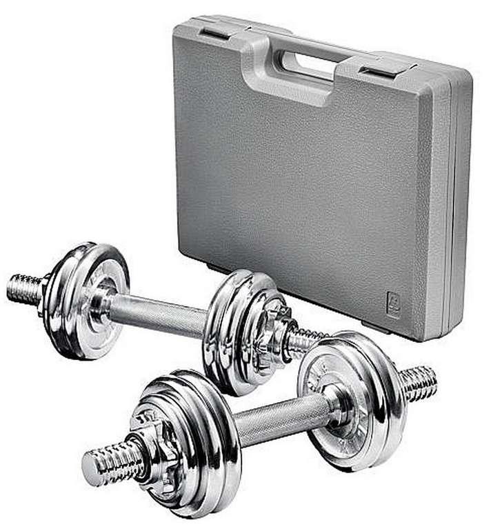Bundle: Alex Chrom-Hantelset 15kg + Alex Tür-Gym Multi für 36,98€ inkl. Versand (statt 52€)
