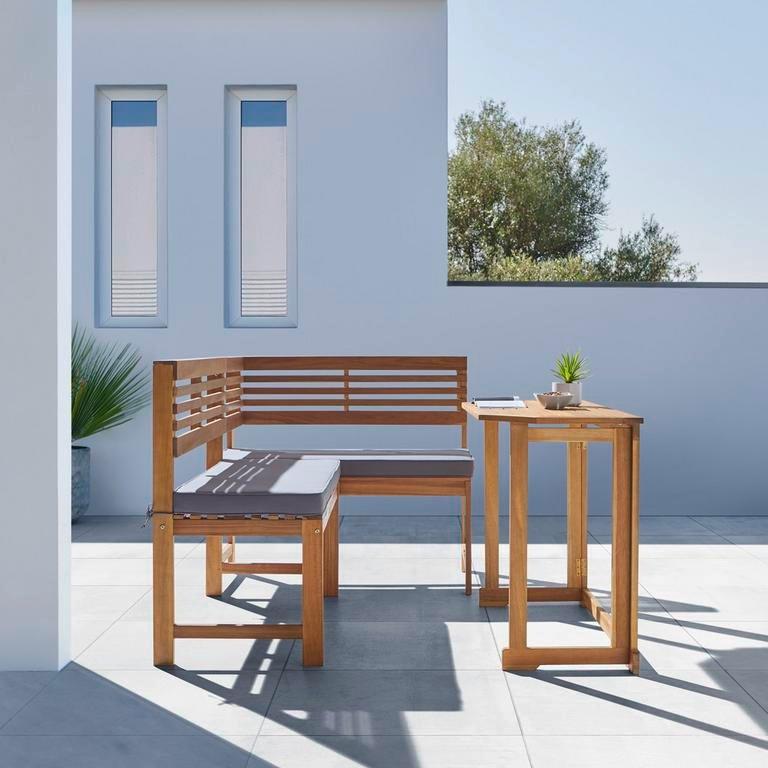 """Bessagi Garden Balkonset """"Lia"""" aus Akazie, inkl. Auflage für 174,30€ inkl. Versand (statt 349€)"""