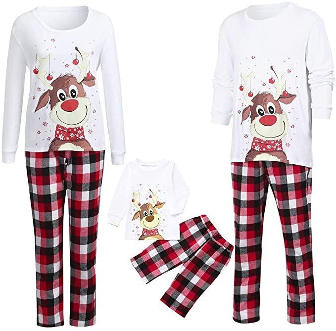Cinnamou weihnachtliche Schlafanzüge (für Erwachsene & Kinder) ab 6,11€ inkl. Versand (statt 17€)