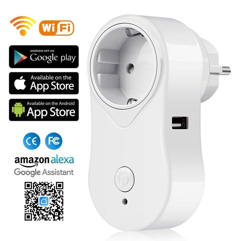 SIMBR Smart WLAN Steckdose mit Alexa Support für 11,19€ (statt 16€)