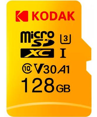 Kodak High Speed U3 A1 V30 TF 4K 128GB microSD Speicherkarte für 16,07€