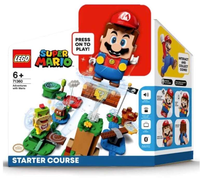 """Vorbestellung: Lego Super Mario """"Abenteuer mit Mario Starterset"""" (71360) + Superpilz Expansion Set für 54,99€"""