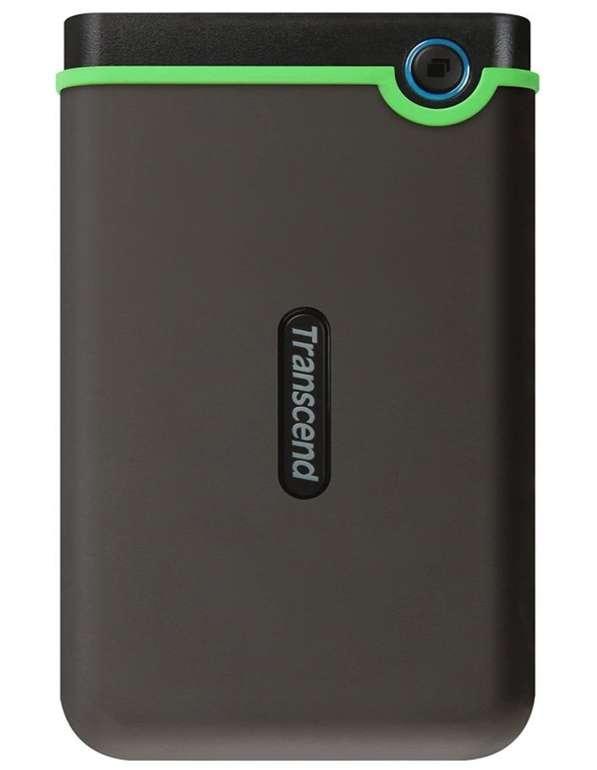 Transcend TS2TSJ25M3S StoreJet -  Externe 2TB HDD (USB3.1, kompakt, stoßunempfindlich) für 49,90€