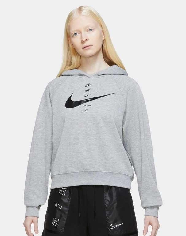 Nike Damen Kapuzensweat Swoosh in Grau für 31,94€ inkl. Versand (statt 45€)