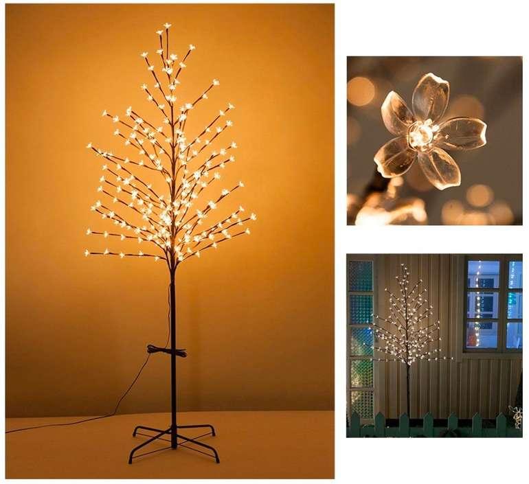 Vingo Kirschblütenbaum mit LED-Lichtern (für Innen- und Außenbeleuchtung geeignet) je 17,49€ inkl. Versand