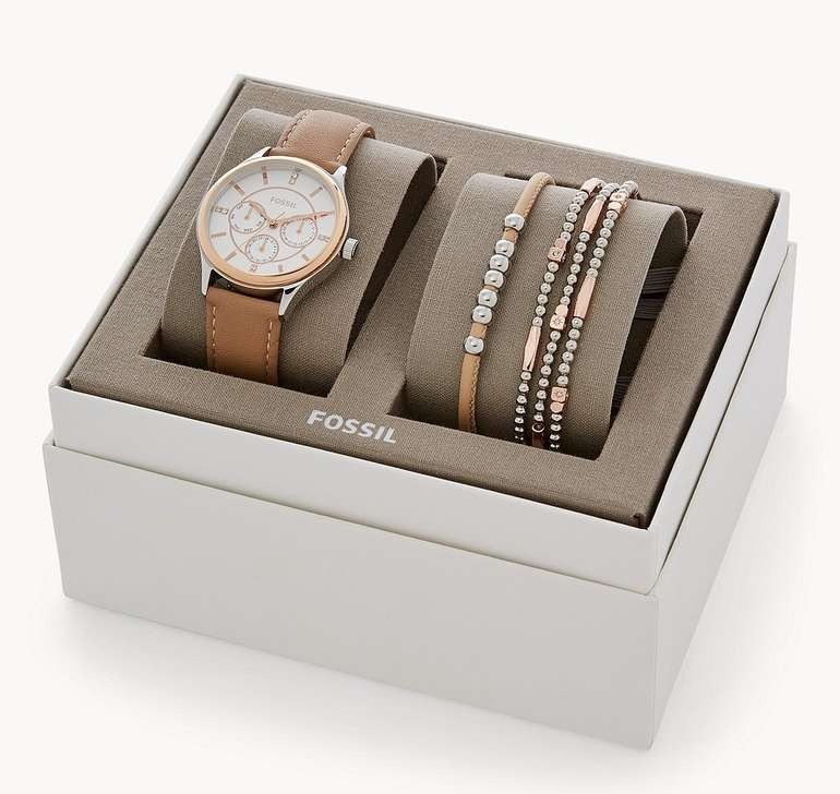 Fossil Set Damenuhr Modern Sophisticate + Armbänder (BQ3417SET) für 48,30€ inkl. Versand (statt 69€)