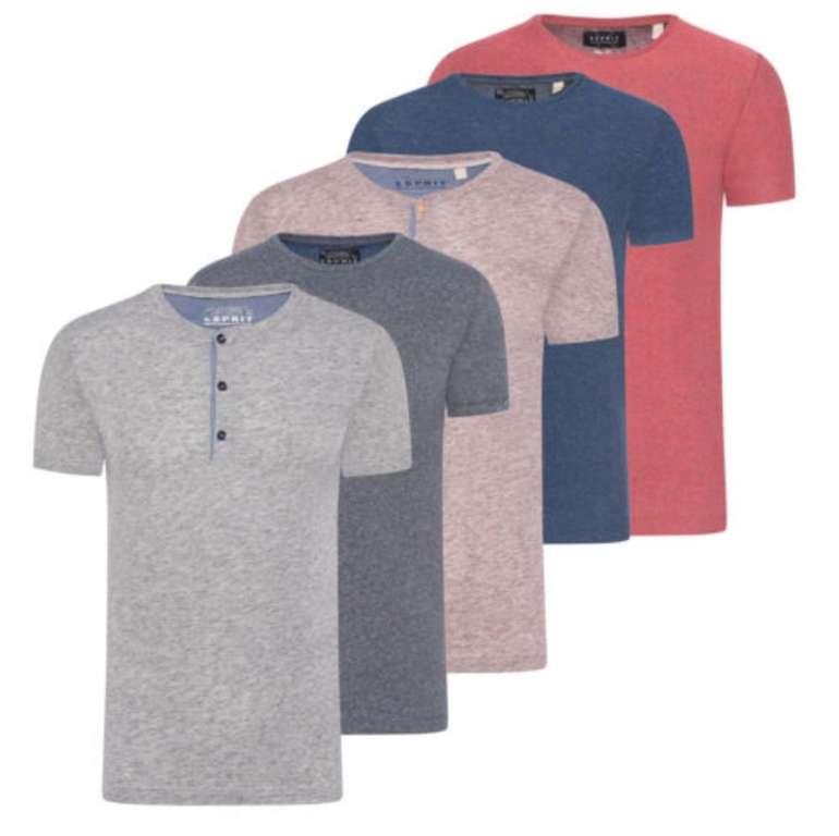 Esprit Basic Grandad Herren T-Shirts mit Rundhals Ausschnitt für 9,95€ inkl. Versand (statt 13€)