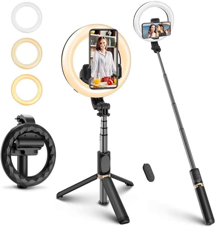 """Elegiant 6,3"""" Selfie Ringlicht mit Stativ für 13,99€ inkl. Prime Versand (statt 20€)"""