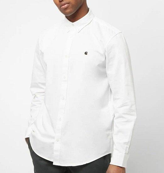 Carhartt WIP LS Madison Shirt white/black für 38,99€ (statt 70€)