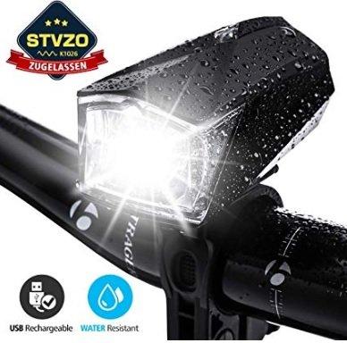 Outerdo Fahrradlicht LED, StVZO Zugelassen für 10,99€ inkl. Versand (statt 22€)