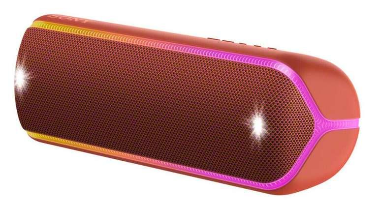 Schnell: Sony SRS-XB32 Bluetooth Lautsprecher (Wasserfest, NFC, farbige Lichtleiste) für 67,54€ inkl. Versand