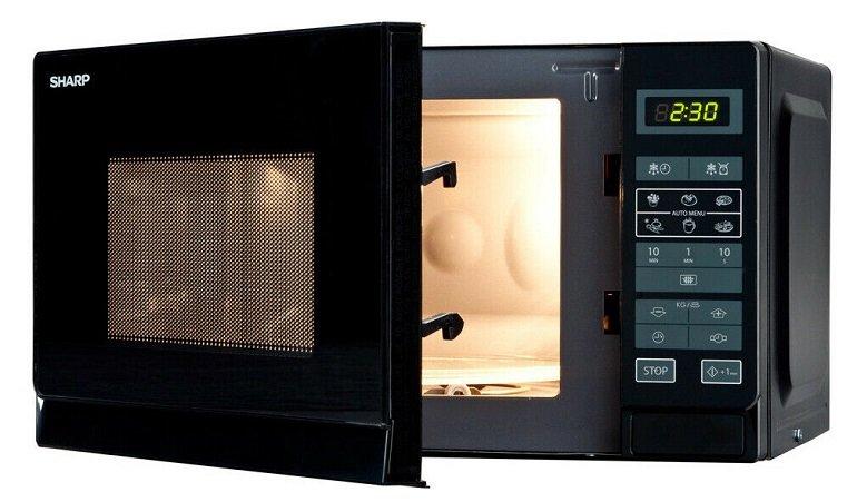 Sharp R-242BKW 20L Mikrowelle Solo mit 800 Watt & 11 Leistungsstufen für 55€ (statt 65€)