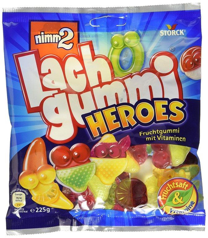 15er Pack nimm2 Lachgummi Heroes ab 10,48€ inkl. Versand (statt 18€)