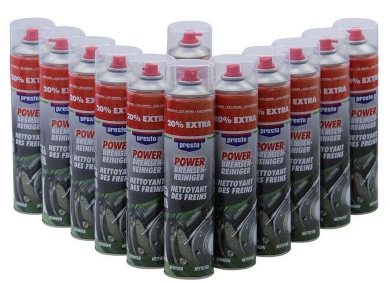 12 x 600 ml Spraydose Bremsenreiniger Power Presto für 19,98€ inkl. Versand (statt 30€)