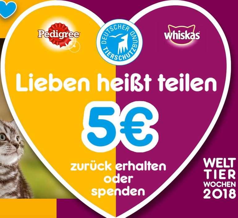 Pedigree & Whiskas - 5€ Cashback (ab 10€ Einkaufswert)