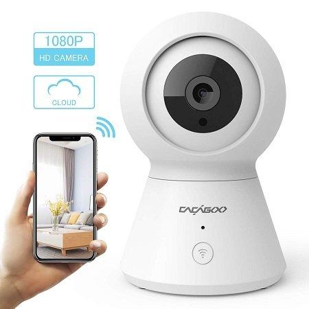 Cacagoo 1080P WLAN IP Kamera mit 2-Wege Audio für 24,74€ inkl. VSK