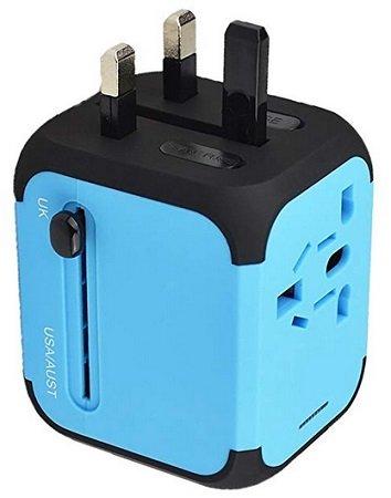 feifuns - Cube Plug Universal Travel Adapter für 9,49€ inkl. VSK