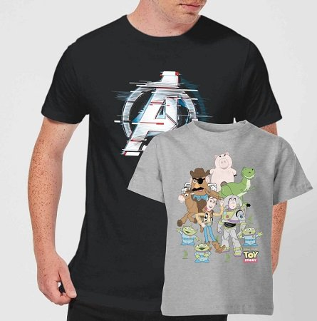 Kinder T-Shirt (Nintendo / Star Wars etc) + Erwachsenen T-Shirt ab 18,48€