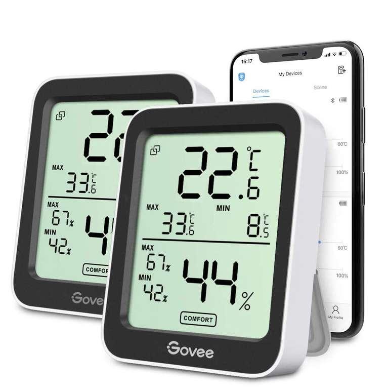 Govee 2er Pack Thermo- bzw. Hygrometer mit App für 18,74€ inkl. Prime Versand (statt 25€)