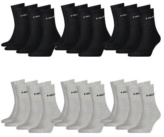 18er Pack Head Short Crew Herren Socken für 22,95€ inkl. Versand