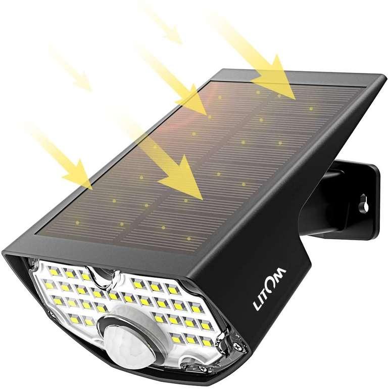 Litom LED Solar Strahler mit Bewegungsmelder für 9,99€ inkl. Prime Versand (statt 14€)
