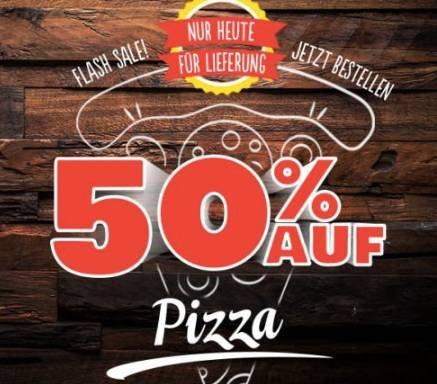 50% Rabatt bei Domino's Pizza - nur bei Online-Bestellung + Lieferung!